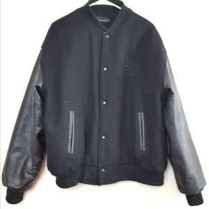 Mercedes Benz Jackets & Coats - Mercedes Benz Jacket Size XL Leather and Wool